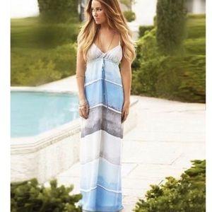 Lauren Conrad Blue Ombre Beachy Maxi Dress 6 Small